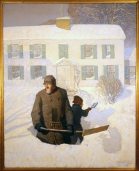 """""""Christmas Morning"""" (or, """"Winter""""), Oil on canvas, 1913."""